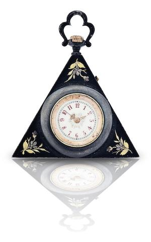 Swiss. A triangular pocket watch Circa 1920s