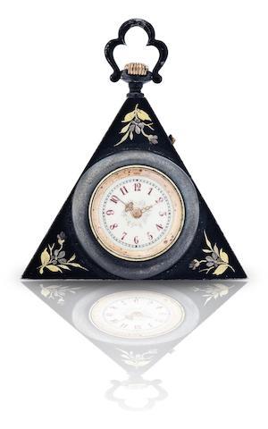Swiss. A triangular pocket watch  Circa 1920s