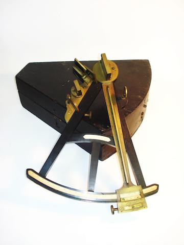 A Spencer & Co ebony octant,  English, circa 1820,