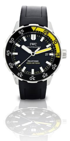 IWC. A fine stainless steel automatic divers wristwatch Aquatimer Automatic 2000, Ref:IW356802, Case No.3479596, Circa 2009