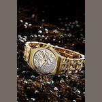 Wintour. A very fine 18ct gold and diamond set quartz bracelet watch CC, Case No.10090010, Circa 2010