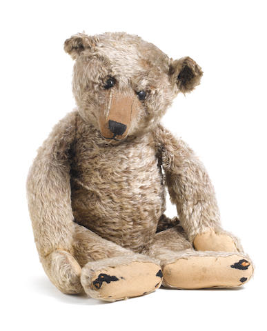 A large light brown Steiff Teddy bear, circa 1909