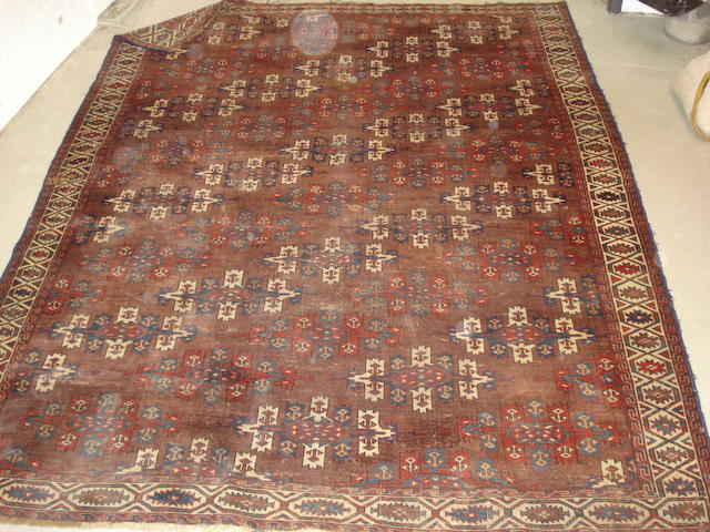A Yomut carpet West Turkestan, 230cm x 176cm