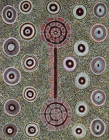 Anatjari Tjakamarra (circa 1930-1992) Porcupine Danger Men Only