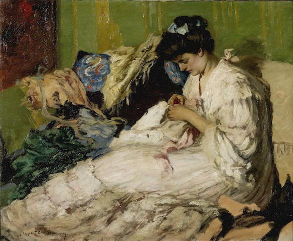 Rupert Bunny (1864-1947) Lady Sewing c.1906