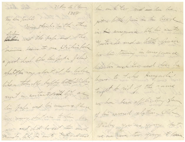 STEIN (GERTRUDE) Autograph letter signed, [1908]