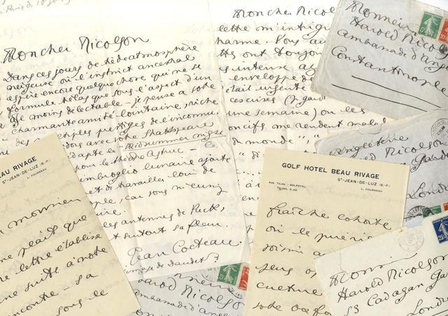 COCTEAU (JEAN) Four autograph letters signed, to Harold Nicolson, 1912