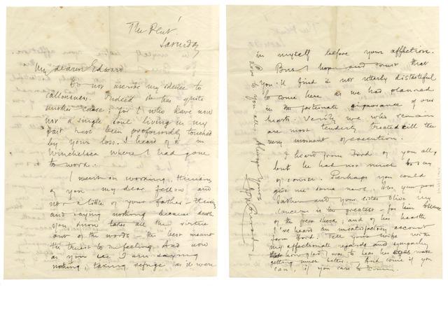 CONRAD (JOSEPH) Autograph letter signed, to his editor Edward Garnett, [1903]