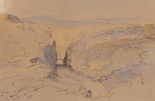 Edward Lear (British, 1812-1888) Baia Zagora, Albania