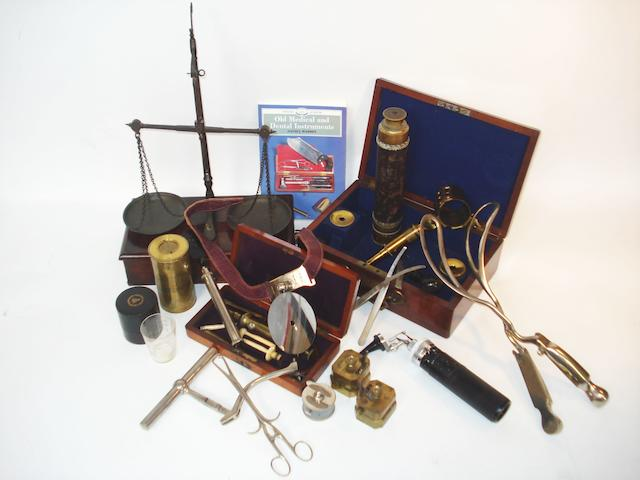 A collection of scientific and medical instruments,  various dates,  (qty)
