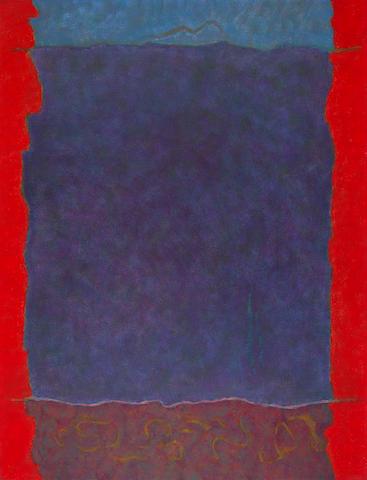 Theodoros Stamos (American, 1922-1997) Infinity Field Lefkada Series 157 x 121 cm.