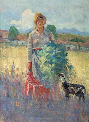 Epaminondas Thomopoulos (Greek, 1878-1974) Harvest 82 x 60 cm.