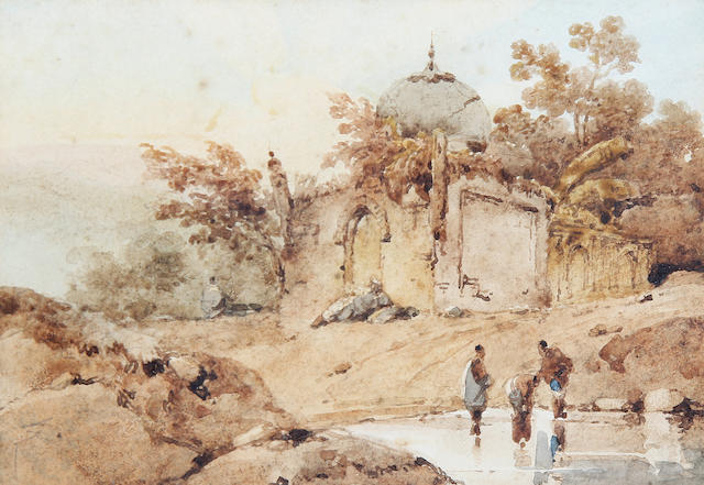 George  Chinnery, RHA  (British, 1774-1852) An Indian landscape