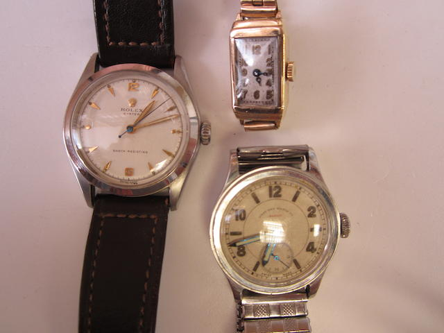 A lot of three wristwatches by Rolex