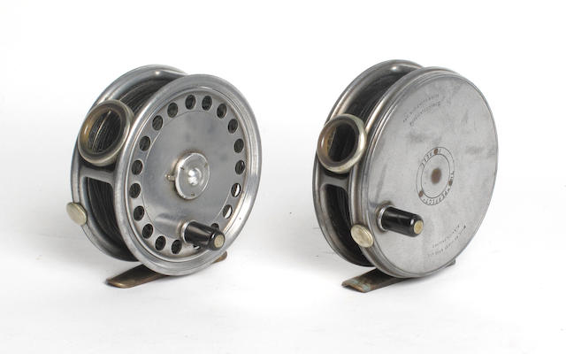 A Hardy The 'St. George' and 'Perfect' fly reels
