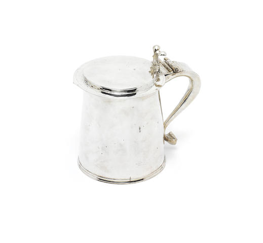 A Charles II silver tankard, maker's mark GB, London 1669,