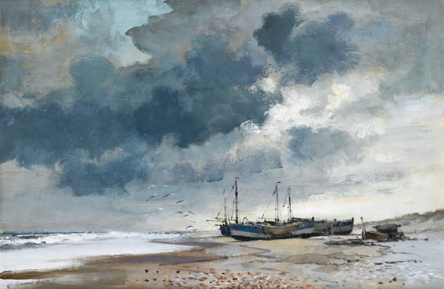 Edward Seago R.W.S. (British, 1910-1974) Suffolk Beach 51 x 76.2 cm. (20 x 30 in.)