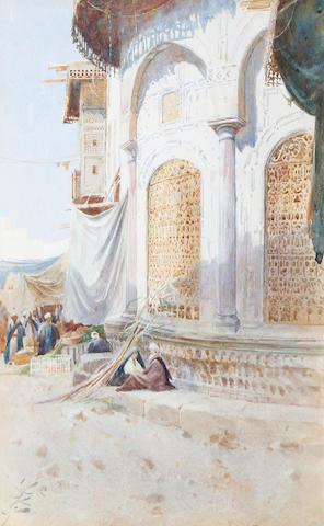 Augustus Osborne Lamplough, A.R.A., R.W.S (British, 1877-1930) Near the Bazaar