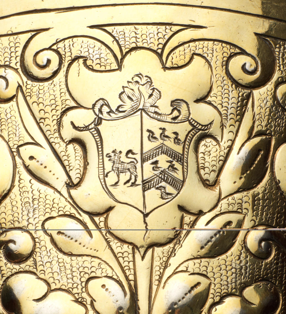 """The Welland Cup"" A James I silver-gilt steeple cup and cover, by Thomas Fli(y)nt, London 1613, head assayer/assaymaster William Dymocke, cover stamped with date letter only,"