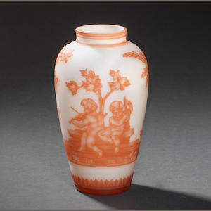 A Stevens and Williams cameo glass vase