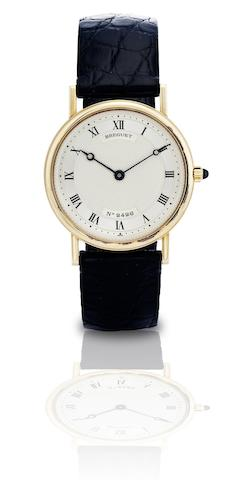 Breguet. A fine 18ct gold manual wind wristwatchClassique, No.2426, Circa 1990