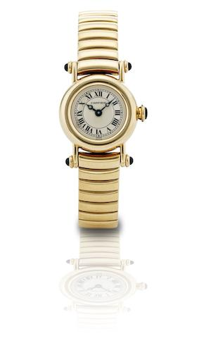 Cartier. A fine 18ct gold lady's quartz bracelet watchDiabolo, Ref:1470 1, Case No.C64388, Circa 1990
