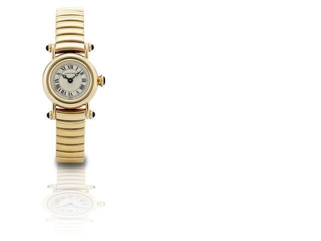 Cartier. A fine 18ct gold lady's quartz bracelet watch Diabolo, Ref:1470 1, Case No.C64388, Circa 1990