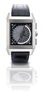 Jaeger-LeCoultre. A fine and rare titanium world time chronograph automatic limited edition wristwatch Reverso Squadra World Chronograph, Ref:231.T.50, Case No.2554445, Edition No. 008/1500, Circa 2007