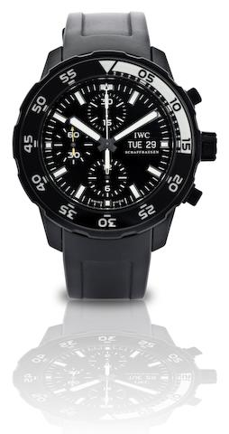 IWC. A fine stainless steel automatic chronograph wristwatch Aquatimer Chronograph Edition Galapagos Islands, Ref:IW376705, Case No.3520687, Circa 2010