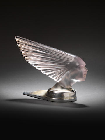 A 'Victoire' glass mascot by René Lalique, French, designed 1928,