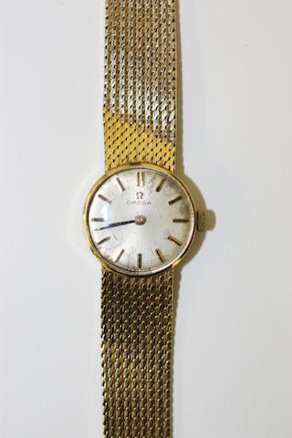 Omega: An 18ct gold lady's wristwatch