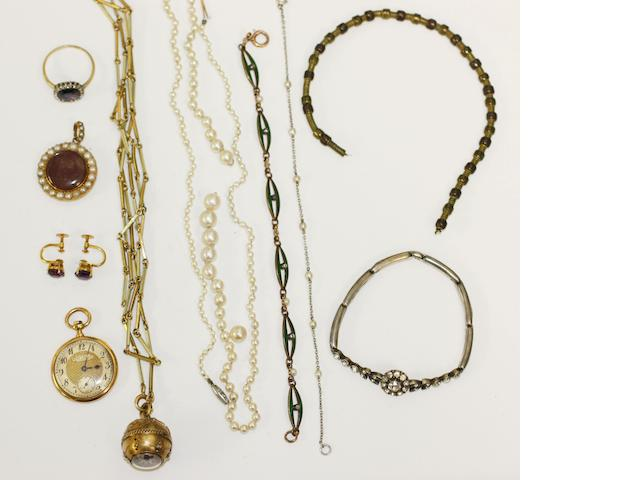 A collection of assorted mostly Edwardian jewellery