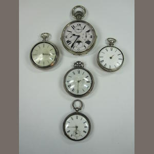 5 gent's pocket watches