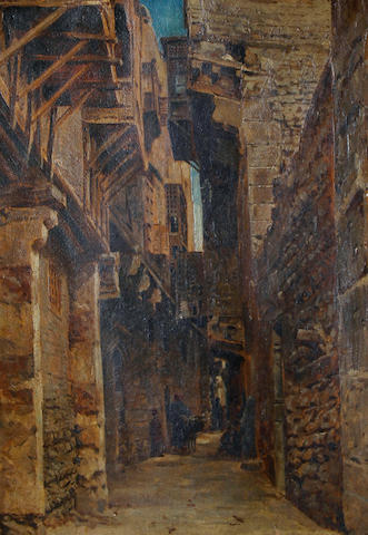 John Varley Jnr. (British, 1850-1933) The Coptic quarter, Cairo