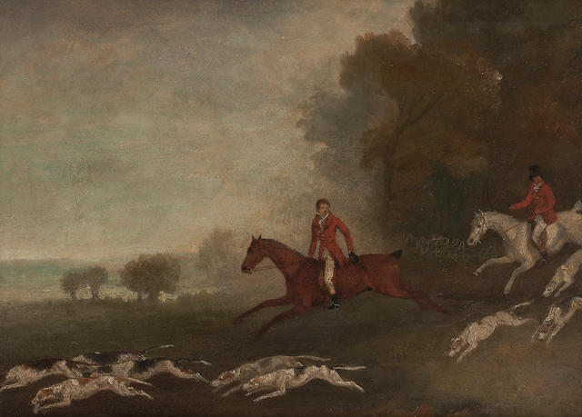 Richard Barrett Davis, RBA (British, 1782-1854) Huntsmen and hounds