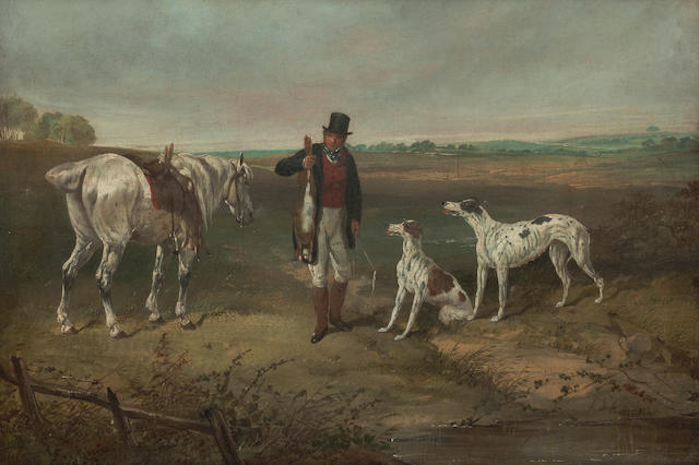 Attributed to William Shayer, Snr. (British, 1787-1879) Hare coursing