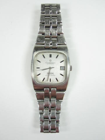 A gentleman's stainless steel automatic 'Constellation' wristwatch, by Omega,