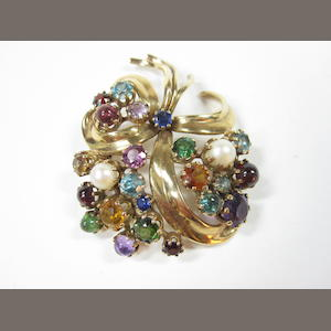 A multi gem-set brooch