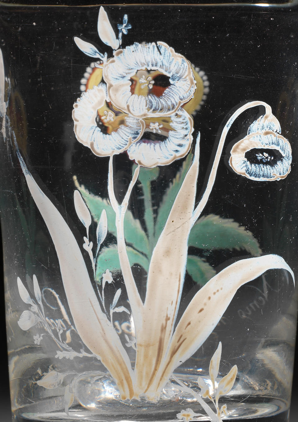 A rare and unrecorded Beilby enamelled tumbler with the Order of the Thistle, circa 1765