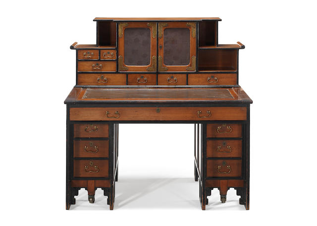 Hindley & Sons, in the manner of Thomas Jeckyll a Rare Aesthetic Movement Desk, circa 1875