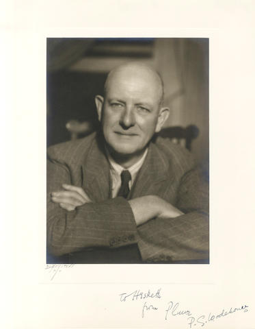 WODEHOUSE (P.G.) Photograph, signed and subscribed, [c.1930]