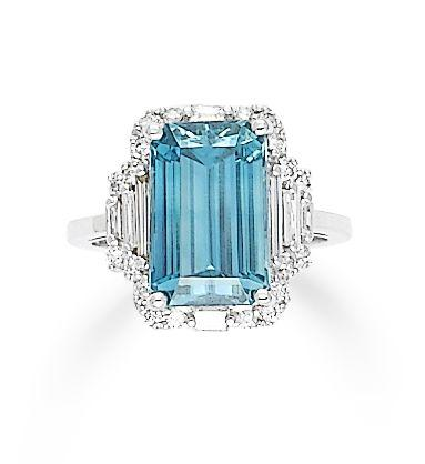 A zircon and diamond ring