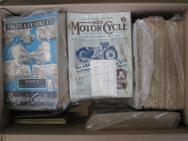 A large collection of 'The Motorcycle', 1930s-1950s,