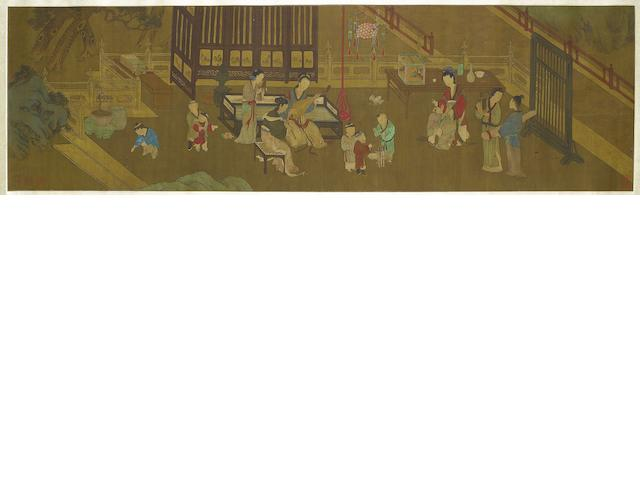 After Chen Juzhong (13th Century) Ladies and Children at Leisure