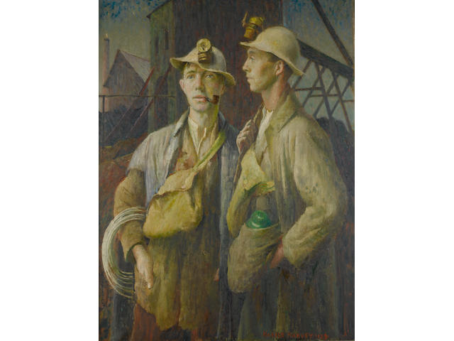 Harold Harvey (British, 1874-1941) Tin miners