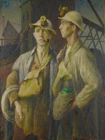 Harold Harvey (British, 1874-1941) Tin miners