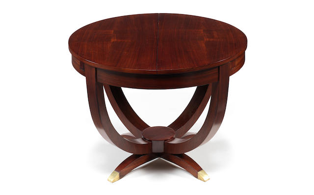Dominique an Art Deco Extending Dining Table, circa 1940