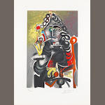 Pablo Picasso (Spanish, 1881-1973) Le Cavalier Lithograph, 1960, printed in colours,  signed in pencil, from an edition of 300