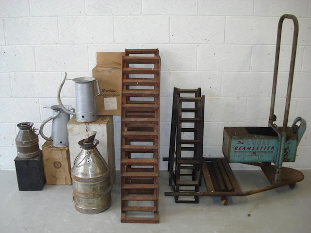 Assorted garage equipment,