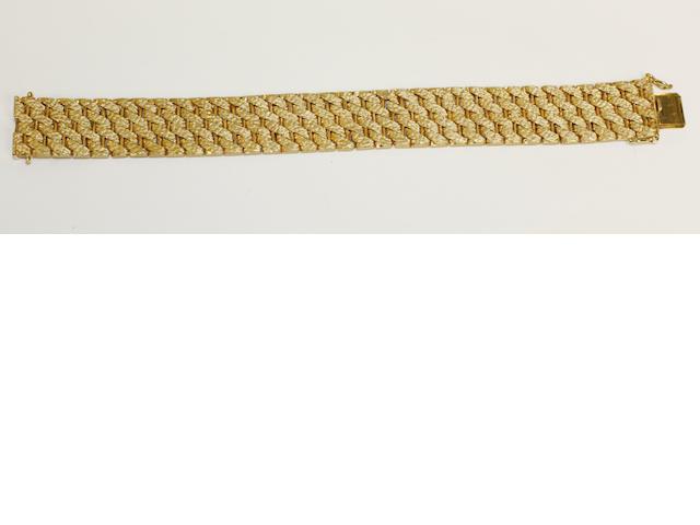 A broad bracelet